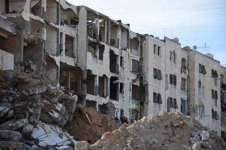 Destruction of homes in Um al Nasser Northern Gaza during Operation Protective Edge 2014