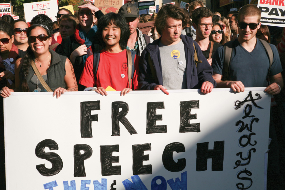 FREE SPEECH UC CAMPUS