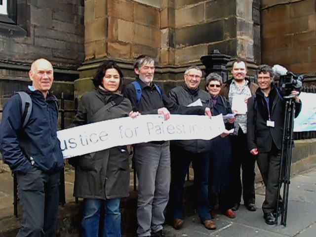 SPSC Edinburgh members leaflet General Assembly delegates, 23 May 2013
