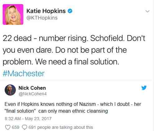 KT hopkins and final solution