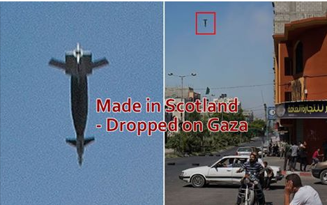 Made In Scotland, Dropped On Gaza