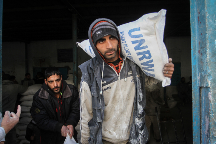 UNRWA rations in Rafah