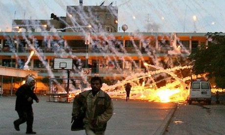 Israel massacres many hundreds of Palestinian men women and children in January 2009