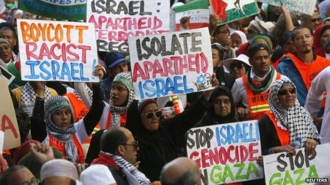 Demonstrators march through Cape Town for BDS against Israeli Apartheid
