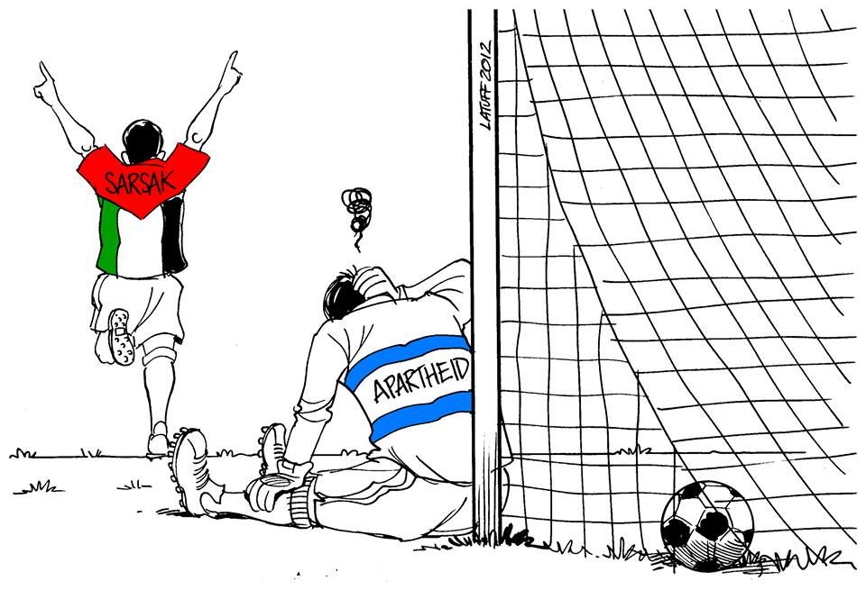 Brazilian cartoonist Latuff