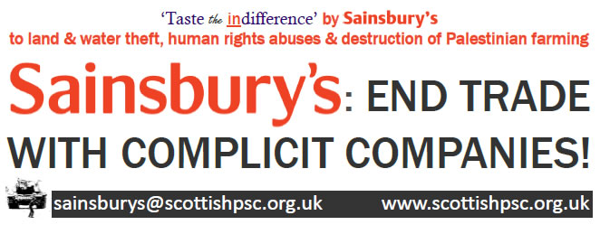 Sainsbury's campaign banner will be outside a lot of their shops the first Saturday of each month