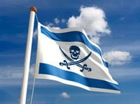 One version of the Israeli flag