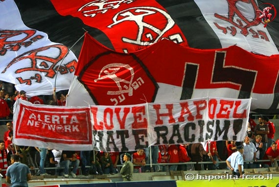 Hapoel 'Ultras' oppose some racism but support the racist massacres in Gaza