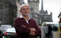 Mick Napier - 'wrongly' arrested, handcuffed and injured by Lothian & Borders Police