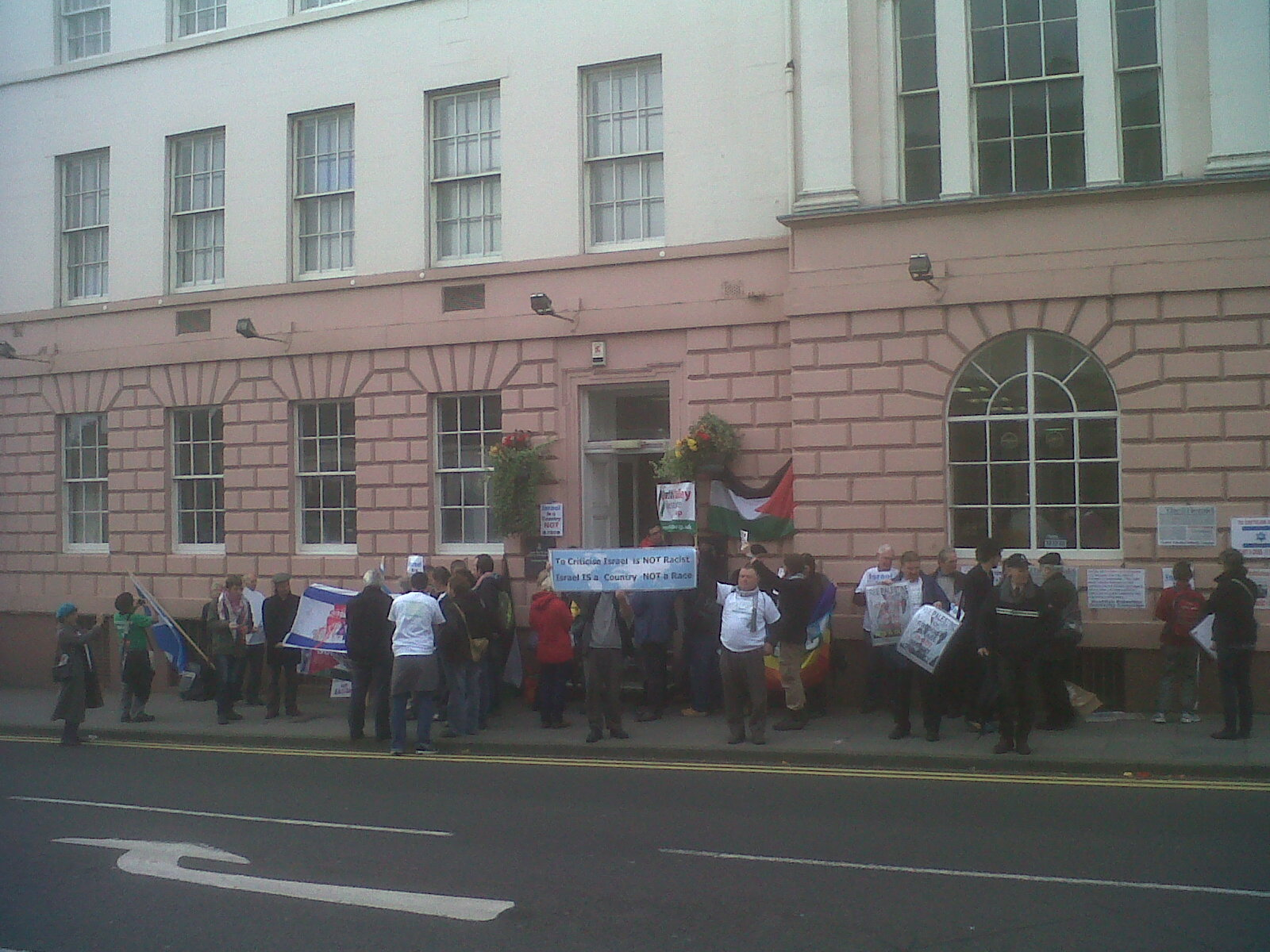 Supporters gathered both inside and outside the court