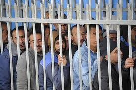 Palestinians at a checkpoint