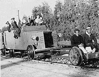 1936: British soldiers on armoured train with two Palestinian human shields