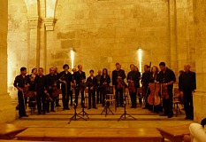 Half the Ramallah Orchestra at St Anne Church