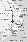 Gone: a state set up by Western powers to deny national self-determination to the people of Vietnam