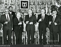 Dead but not forgotten: a late obituary to Yitzhak Shamir (3rd from left) - a pro-Nazi who became Prime Minister of Israel