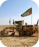 JNF tractor participating in the demolition of Palestinian Bedouin village of Al Araqib