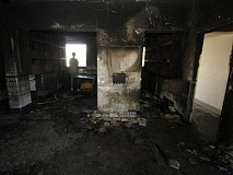 Another mosque fire-bombed by settlers, this one near Safed in Northern Israel