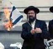 'Anti-Semite' burns Israeli flag